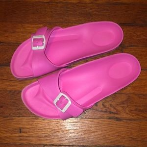 Birkenstock pink foam sandals single strap 39 / 8